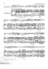 4 Fantasiestücke for Clarinet and Piano