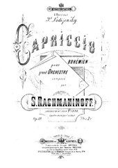 Capriccio on Gypsy Themes (for piano 4 hands)