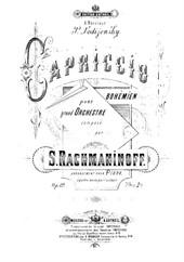 Capriccio on Gypsy Themes (for piano 4 hands)