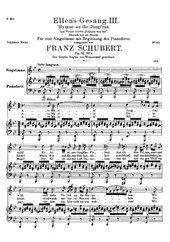 Ave Maria (Schubert) for voice and piano