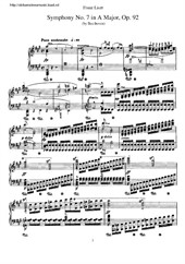 Symphony No.7 (arranged for piano)