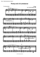 Pomp and Circumstance for easy piano