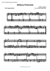 Military Polonaise for easy piano