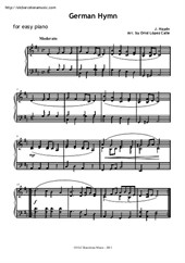 German Hymn for easy piano
