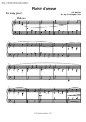 Plaisir d'amour for easy piano