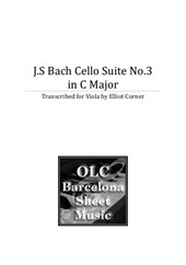 Cello Suite No.3. Transcribed for viola