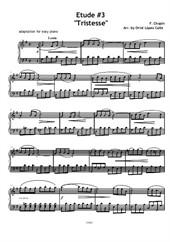 Etude No.3 Tristesse (Easy Piano)