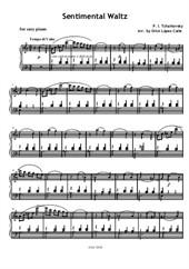 Sentimental Waltz (Easy piano)