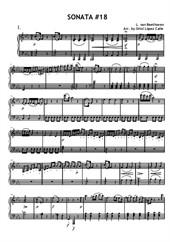 Sonata No.18, 1st movement (easy piano)