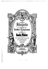 Adagietto from 5th symphony for violin and piano