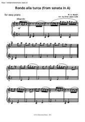 Turkish Rondo for easy piano