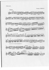 Andante for violin solo
