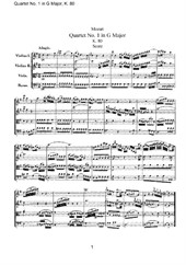 Quartet No.1 in G Major