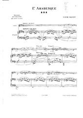 Arabesque No.1 (for violin and piano)