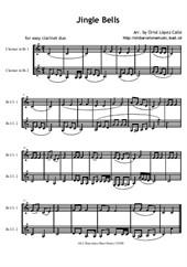 Jingle Bells - Easy Clarinet duo
