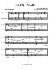 Silent Night - arrangement for easy clarinet duo