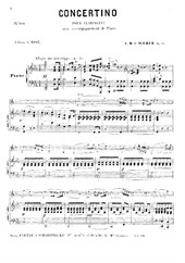 Concertino (for clarinet and piano)