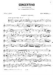 Concertino (Clarinet part)