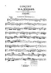 Clarinet Concerto (clarinet part)