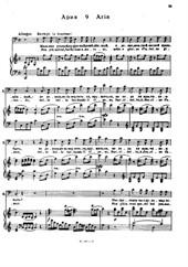 Non piu andrai, farfallone amoroso (for voice and piano)